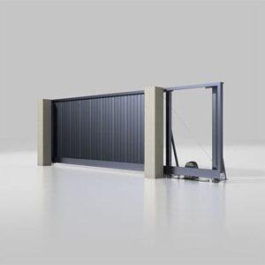 Автоматичні відкатні ворота серії Alutech Prestige 4000х2000 мм
