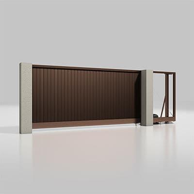 Автоматические откатные ворота серии Alutech Prestige 4000х2000мм