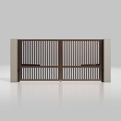 Автоматичні розпашні ворота Alutech Prestige 4000×2000мм