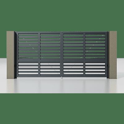 Автоматичні розпашні ворота Alutech Prestige 4000×2000 мм (RAL 7016)