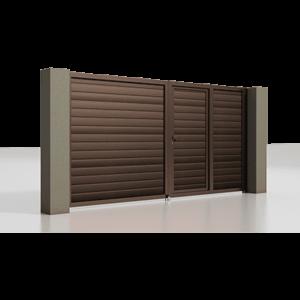 Распашные ворота с калиткой серии Alutech Prestige 4000×2000мм